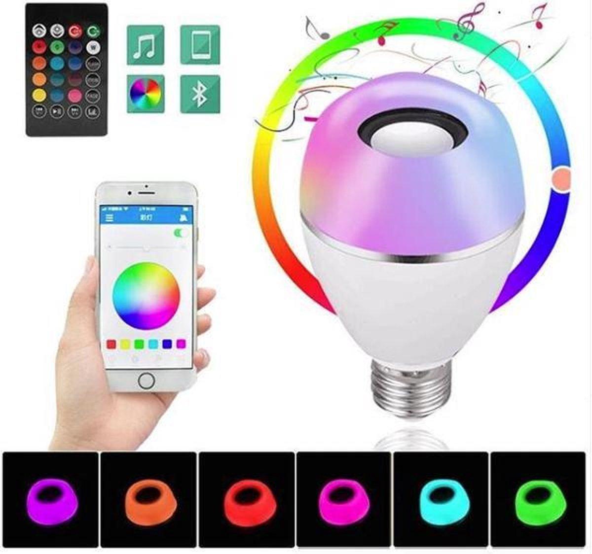 SMART APP CONTROLLED MUSIC LED-LAMP - 7W RGBW - 3W BLUETOOTH SPEAKER