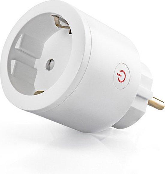 QNECT slimme stekker - Wi-Fi 2,4Ghz - 16A - max 3600W - met energiemeter - werkt met Google Home en Amazon Alexa