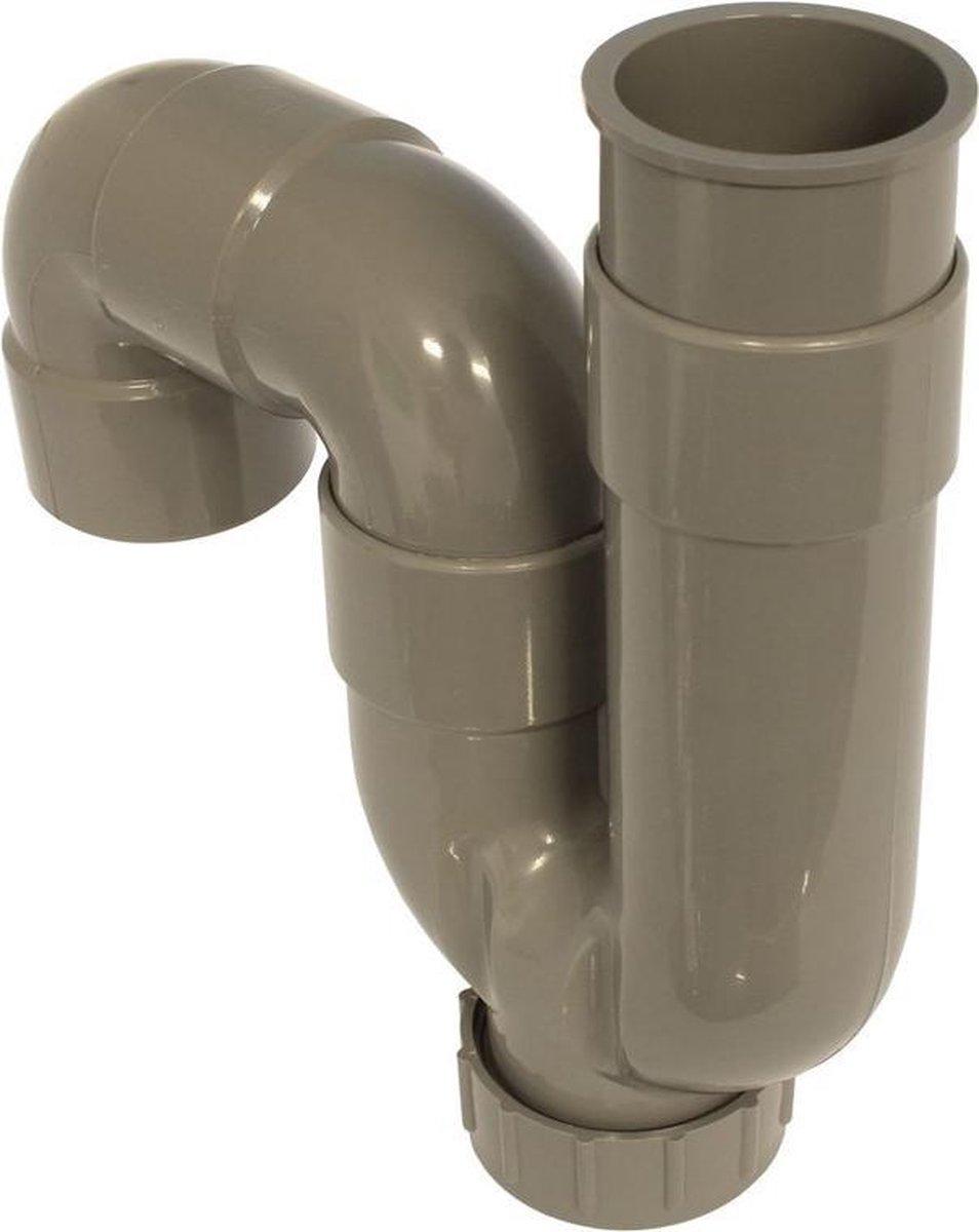 Macek s-sifon 40mm lijmmof grijs abs