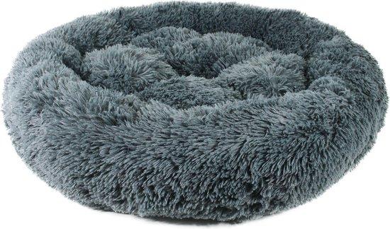 Studio Proud - Donut mand - honden en katten slaapbed - super soft pluche - 70 cm donker grijs - verkrijgbaar in verschillende kleuren en maten