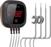 Inkbird IBT-4XS bluetooth thermometer met oplaadba