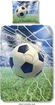 Good Morning Kinderdekbedovertrek - Voetbal - 140x200/220 - 100% Katoen - Multi Kleur