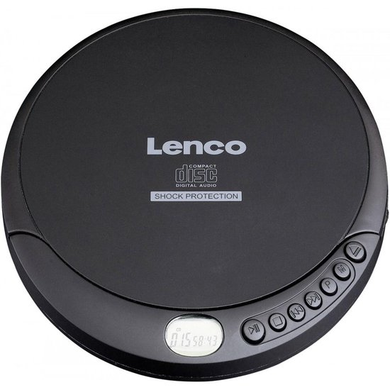 Lenco CD-200 - Discman met MP3 en shock-protection - Zwart