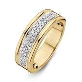 ROEMER bicolor gouden ring met briljant