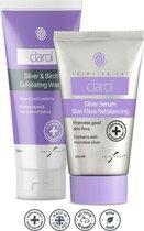 Acne verzorging  | Clarol Silver Duo Pack | Silver Serum & Exfoliating Wash