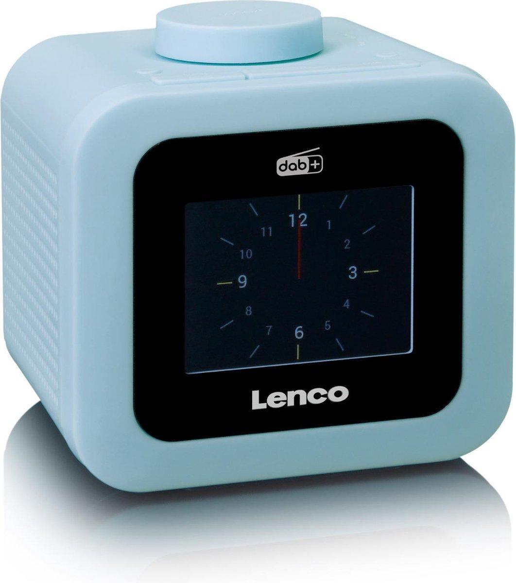 Lenco CR-620 - Wekkerradio met DAB+ en AUX-uitgang - Blauw