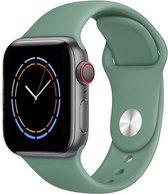 iWatch bandje – Dennengroen – 42/44 mm – Groen – Apple Watch – Sportbandje – Pine green – Cactus - S/M – Siliconen - Apple Watch Serie 3/2/1 – Apple Watch Serie 5/4