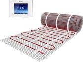 3,5m2 Vloerverwarmingsmat Set 3,5m²   150Watt/m² + 4iE Smart WIFI Thermostaat van WARMUP    Elektrische vloerverwarming