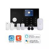 Tuya smart live 4g home security alarm systeem met draadloze pir motion sensor en ip camera security system