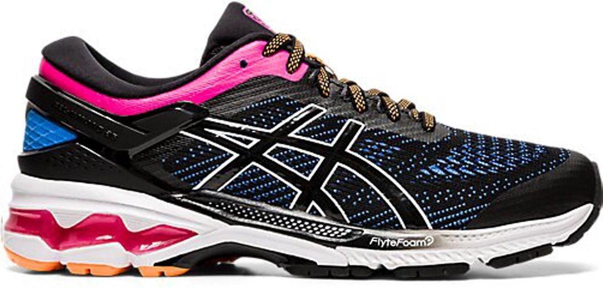 Asics Sportschoenen Maat 39.5 Vrouwen zwartrozeblauwwitoranje