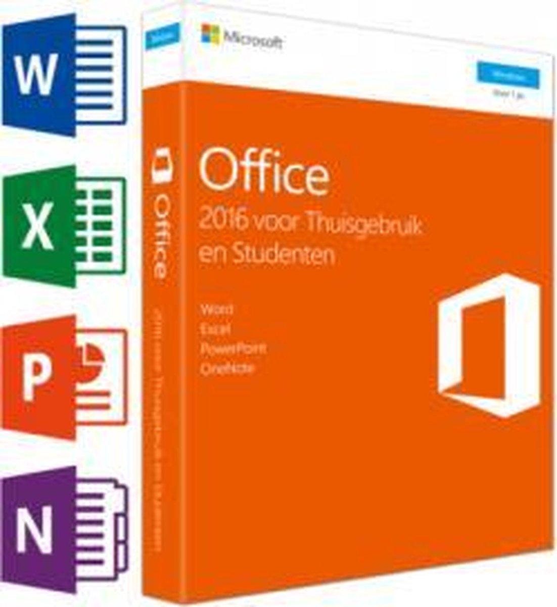 Microsoft Office 2016 - Home & Student - Windows - Nederlandstalig