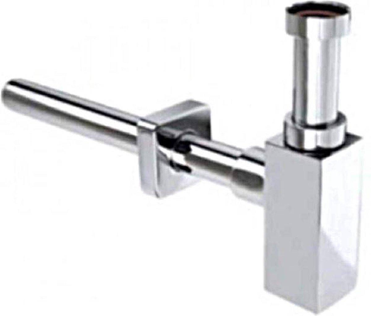 Plieger Bekersifon vierkant chroom 5/4 aansluiting 32 mm buis
