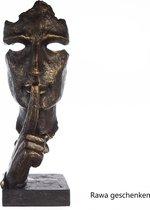 Sculptuur De stille waarheid beeld van een gezicht