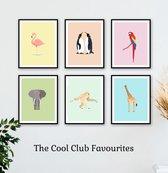 Set van 6 Dieren Posters voor de Babykamer. Design Awards - Kinderkamer - Wanddecoratie - Kinderposters