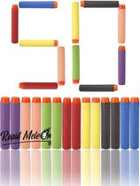 50 Pijltjes / Darts / Kogels Geschikt voor Nerf blasters - Gekleurd - Rapid Meteor®