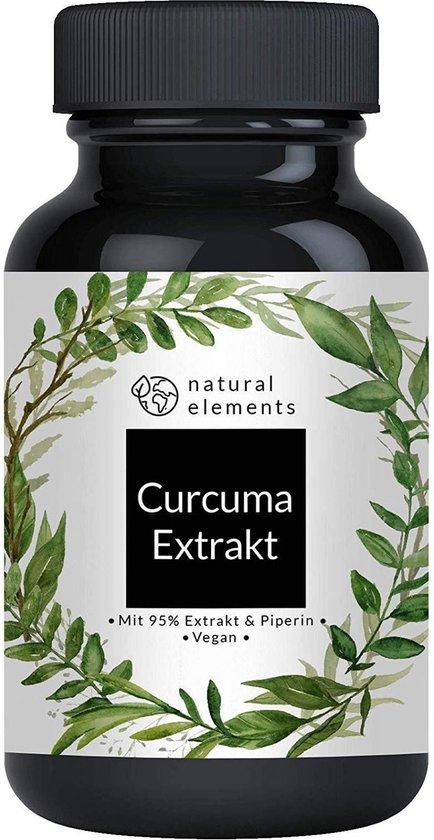 VEGAN Kurkuma Extract Capsules - Curcuma extract capsules - Winnaar 2019 * - Het curcuminegehalte van 1 capsule is gelijk aan dat van ongeveer 10.000 mg kurkuma - Hoge doses van 95% extract - Laboratorium getest - 90 stuks