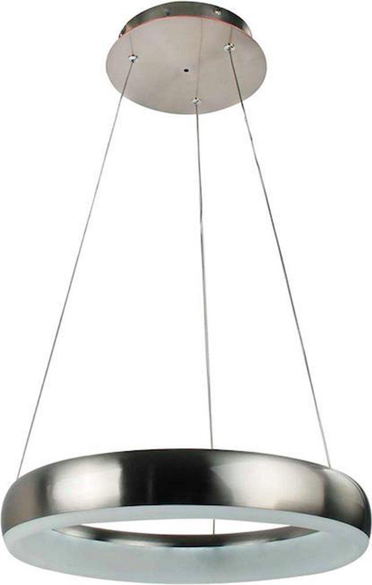 Hoogwaardige Nikkel Mat Design Led Hanglamp 24W | Smart Technologie | Unieke Wifi en Stembediening | Programmeerbaar | Premium ontwerp door Wofi |