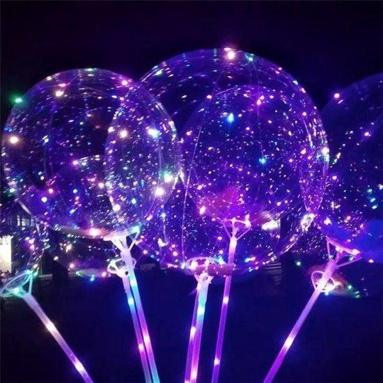 2 stuks Ballonnen met led licht op staafje