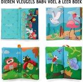 "Tumama® Knisperboekje Baby Eerste Jaar ""Dieren Vleugels"" Voelboekje - Educatief Voel Knisper Boek  Speelgoed 1 Kinderen - Cadeau"