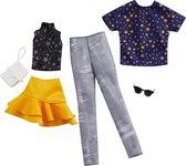 Barbie & Ken Fashions Outfit 2-pack Geel en sterren - Barbiepop