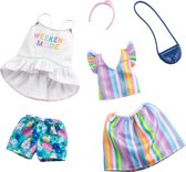 Barbie Fashions outfits 2-pack Rainbow & Floral