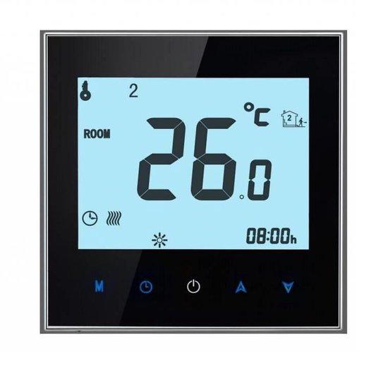 Bol Com Elektrische Vloerverwarming Thermostaat Touch Screen Zwart Prf 78
