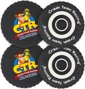 Crash Team Racing Tyre Coasters 4 Pack
