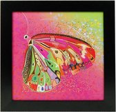 Roze Schilderij Vlinder