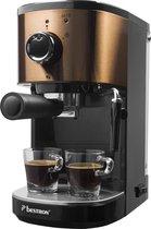 Bestron AES1000CO espressomaker / espressomachine koper look