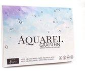 Aquarelblok A4 | 300gr | 20vel | A4 Formaat 21x29,7cm| Aquarelpapier verf