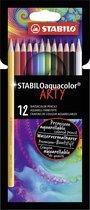 STABILO Aquacolor aquarelpotloden - Etui 12 kleuren