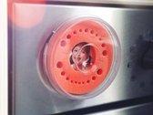 Melktandendoosje - Oranje, Meisje / Jongen - Firsty® Round - Inclusief Koelkastmagneet en nederlands Logboekje + Hoera-Sticker - Gratis verzending