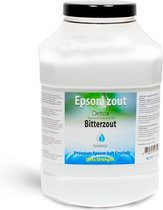 Epsom zout-Bitterzout - Magnesiumsulfaat - Badzout - 4,5 kg - in luxe pot