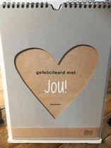 Zinvol Verjaardagskalender- Gefeliciteerd met Jou! ...met VIER Papieren Wensen kado