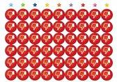 Negatieve Duimpjes Beloningsstickers - 5 VELLEN - 270 STICKERS - 19 mm - TOPKWALITEIT - Rode Duimpjes - Duimpje Omlaag - Likes - School - Beoordeling - Stickers om te belonen