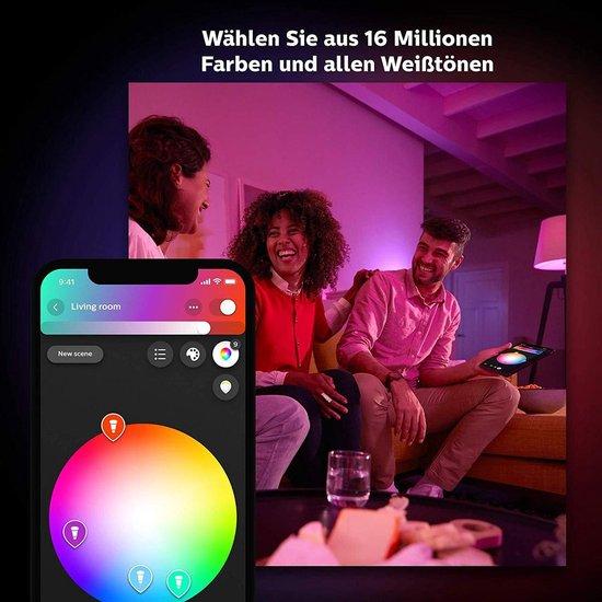 Philips Hue White & Col. Amb. E27 2er Starter Set 2x806lm Bluetooth 1x SmartButton