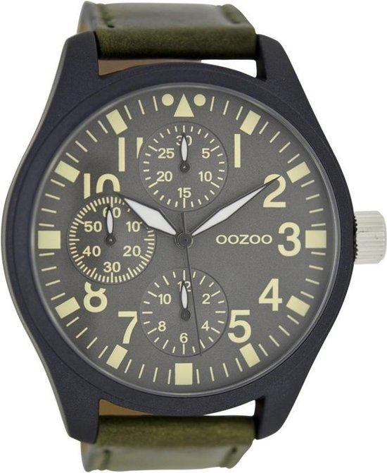 OOZOO Timepieces C6447 Horloge 50 mm Leer Groen