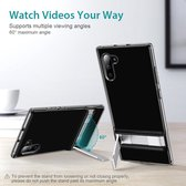 Samsung Galaxy Note 10 / Samsung Note 10 - ESR Military Grade gecertificeerd hoesje met standaard, extreem sterk & duurzaam materiaal – Air Shield Boost – Donker Transparant