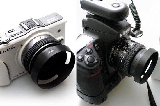 52mm Metalen Zonnekap Canon Nikon Sony Fujifilm camera lens