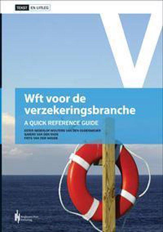 Boek cover Wft voor de verzekeringsbranche van Ester Nederlof-Wouters van den O (Paperback)