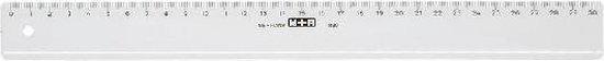 Liniaal 30cm M&R 1130/000 Transparant