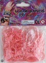 Bandjes Loom Bands 300 stuks: glitter roze (37148)