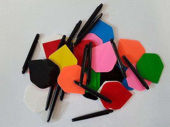 deDartshop  30 stuks Dragon Poly - dartflights - plus 5 sets - dartshafts - Multipack - multicolor