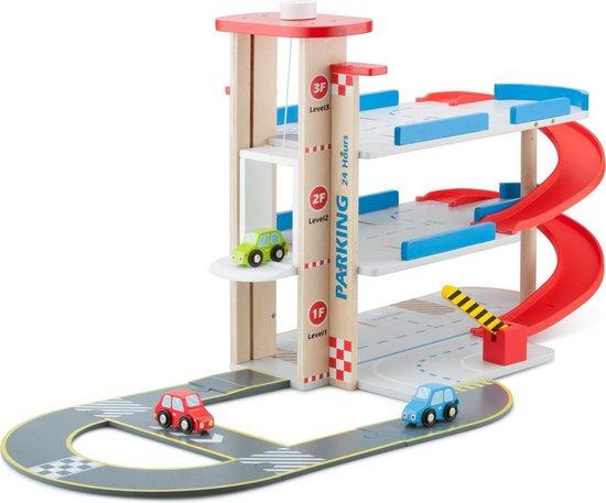 Afbeelding van New Classic Toys - Houten Speelgoedgarage Inclusief 3 Autos