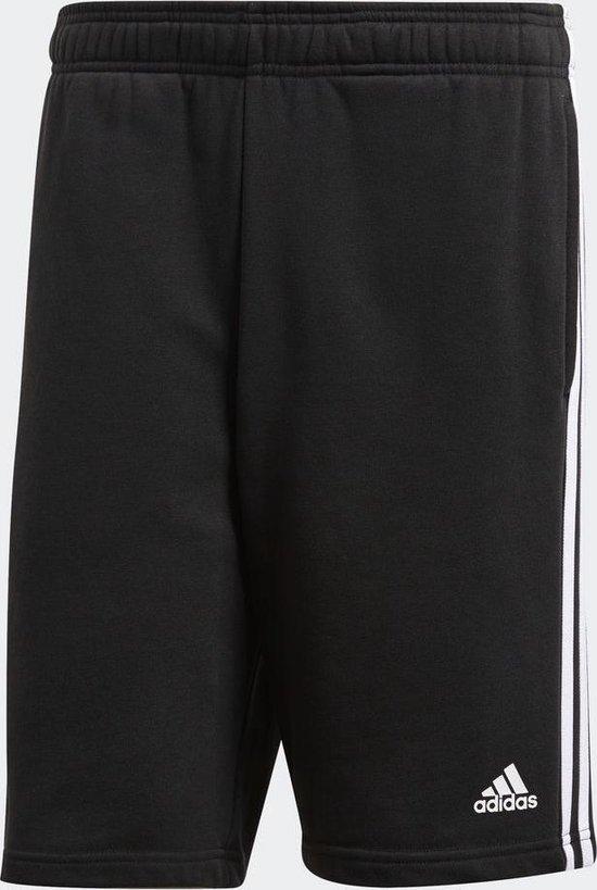 adidas Essentials 3Stripes Short FT Sportshort Heren - Black/White