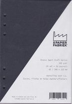 Aanvulling A5 Notitiepapier voor Losbladige Agenda's + Witte Gel Pen - Zwart - 300g/m²