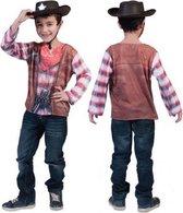 Cowboy shirt met 3D print voor kids 4-5 jaar