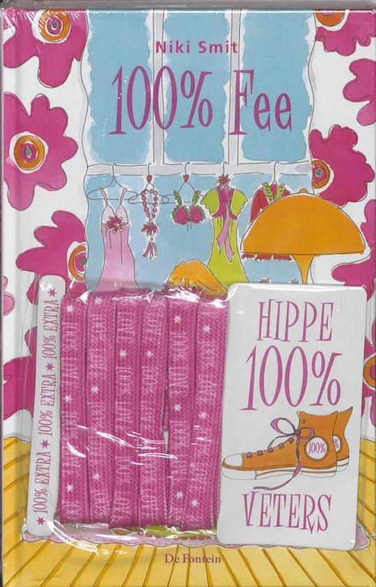 Cover van het boek '100% Fee + veters' van Niki Smit
