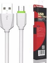 Ldnio LS04 Gecertificeerde kabel 1 Meter Micro USB High Speed Laadsnoer Oplaadkabel voor Samsung Galaxy S2 S3 S5 S6 S7 Edge / Neo / Plus / Active / Mini, A3 A5 A7 J1 J3 J5 (2016) Core / Grand Prime Xcover 3 4 - Wit