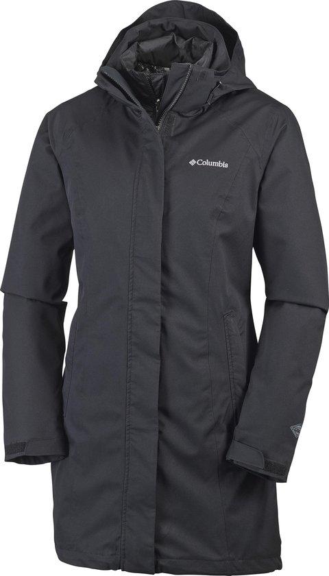 Columbia Salcantay Long Hooded Interchange Jacket Dames Outdoorjas - Black - Maat L